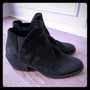 Dolce Vita black suede ankle booties